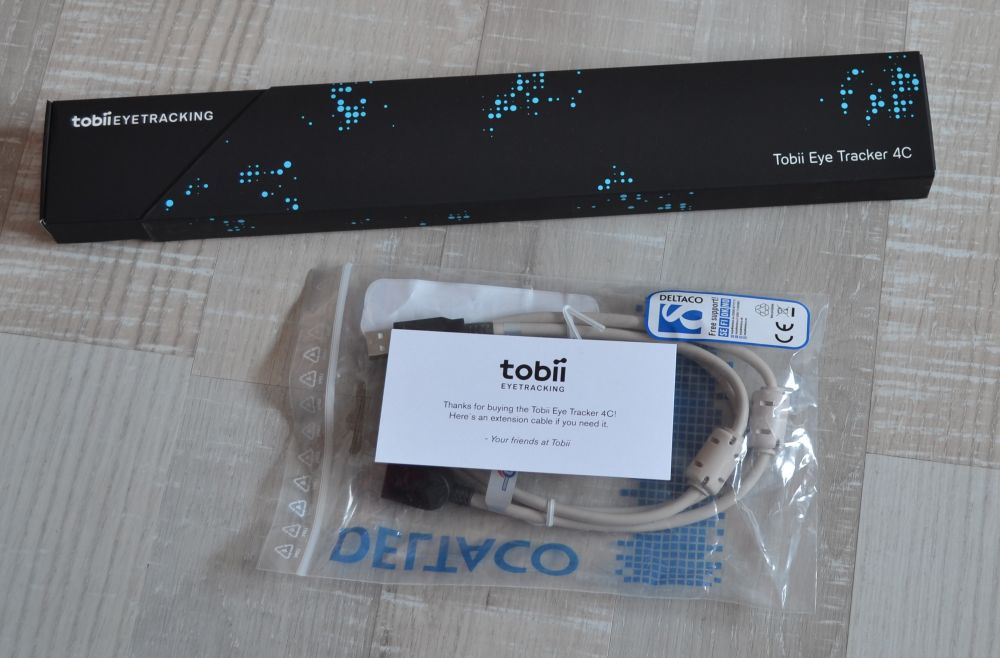 Tobii Eyetracker 4C Packaging and Cable
