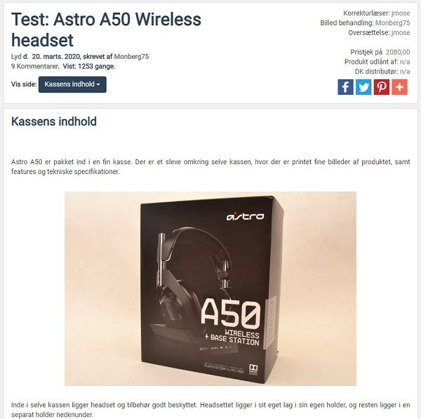 Astro A50 Wireless Headset
